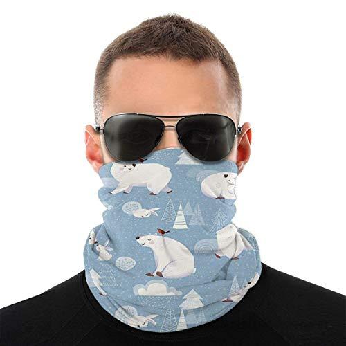OKME Custom Bandana,Niedliche Bären Kaninchen Halsband, Quick Dry Face Guards Für Gym Running Riding 25x50cm