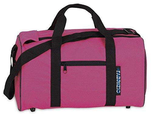 Fabrizio Jungen Mädchen Kinder Sporttasche Freizeittasche Reisetasche, pink, 39 x 21 x 18 cm