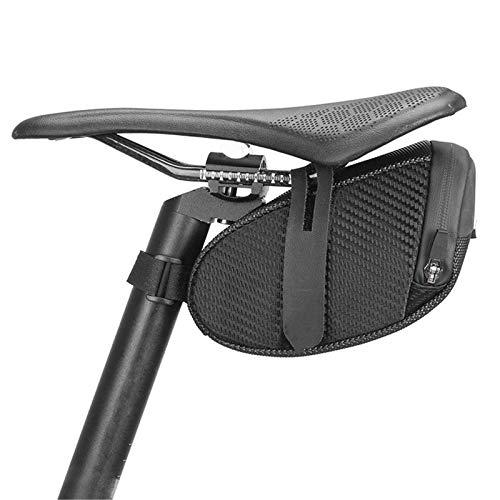 Lisansang Bolsa de sillín de bicicleta Bolsa de bicicleta repelente al agua reflectante espacio oculto bolsa de sillín grande resistente a los arañazos Ciclismo bolsa MTB bicicleta de montaña
