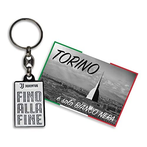 tex family Portachiavi Fino alla FINE in Metallo F.C. Juventus e Cartolina Torino È