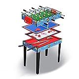 FZYE Mesa de Juegos múltiples 4 en 1, mesas de Billar, fútbol, Hockey de Deslizamiento, Tenis de Mesa, para Juegos de Mesa Arcade de Juegos interactivos Familiares Entre Padres e Hijo