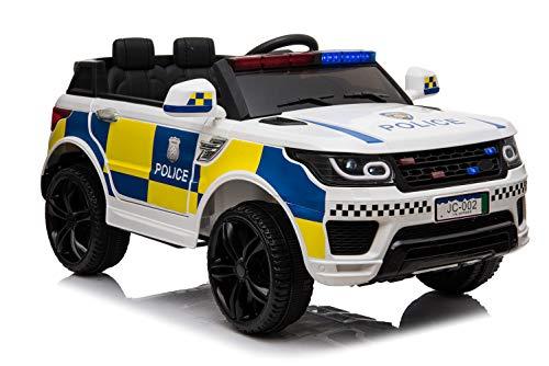ES-TOYS Coche eléctrico para niños Policía RR002 Luces de policía Sirena MP3 USB