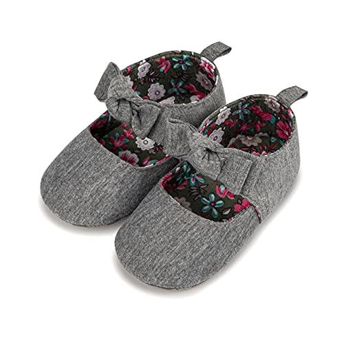 FURONGWANG6777BB Bebé niñas Princesa Antideslizante bowk-no algodón Suela Zapatos Primeros Caminantes for...