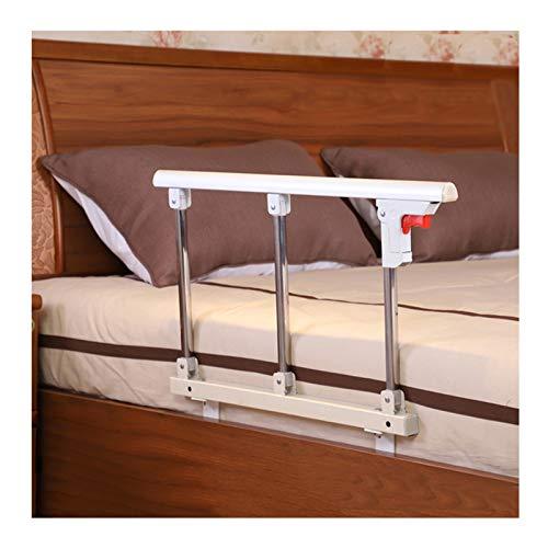 Valbescherming bed, bed rail draagbare opvouwbare bedbeschermingsrooster, volwassenen en kinderen, beschermrooster, inklapbaar, ziekenhuisbed, handgreep bumper handicap medische hulpmiddelen (wit)