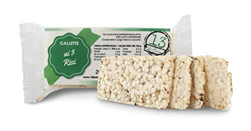 13 di Ilaria Tortitas de arroz Blanco, Negro y Rojo 100% Bio - 20 bolsitas Individuales de 20gr