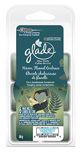 Glade Scented Wax Melts, Warm Flannel Embrace - 6 Count
