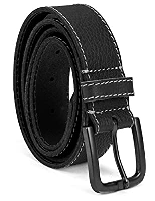 Timberland Men's Leather Belt 40mm, Black (Stitched), 40