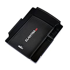 Fit For Hyundai Elantra 2017 2018 2019 2020 ,COULD NOT FIT Elantra GT,check the model of your car before purchase Material: ABS plastic Include: 1 armrest container with non-slip mat Direct fit,no modification needed Keep your armrest storage in a mo...