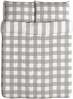 IKEA Emmie Ruta Duvet Cover and Pillowcases, Full/Queen, Gray
