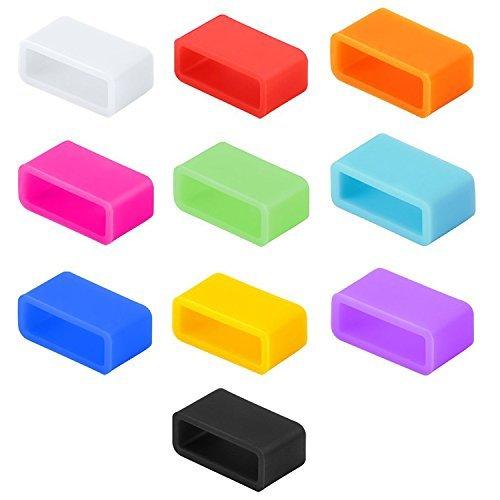 Silikon-Verschlüsse, kompatibel mit Fitbit, kompatibel mit Garmin, Misfit, Amiigo, Striiv oder Disney MagicBand (Kindergröße), behebt das Problem des Verschlusses, sichert das Armband mit Stil