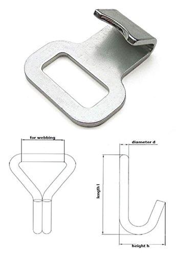 Flachhaken für 25 mm Gurtband Endbeschlag Haken Fitting 10 Stück (930060)