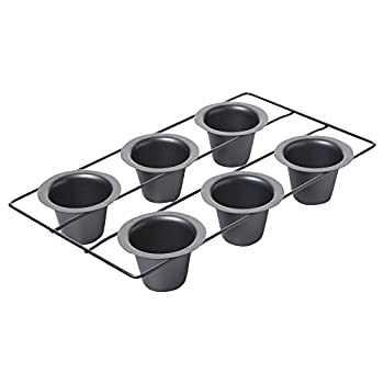 Chicago Metallic Professional 6-Cup Popover Pan 16-Inch-by-9.25-Inch