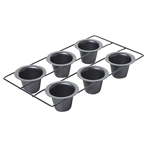 Chicago Metallic Professional 6-Cup Popover Pan, 16-Inch-by-9.25-Inch