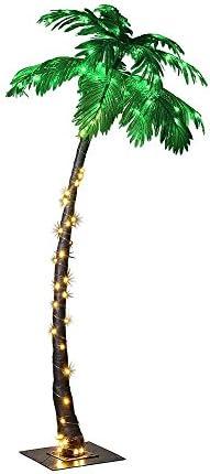 Fiber optic palm tree