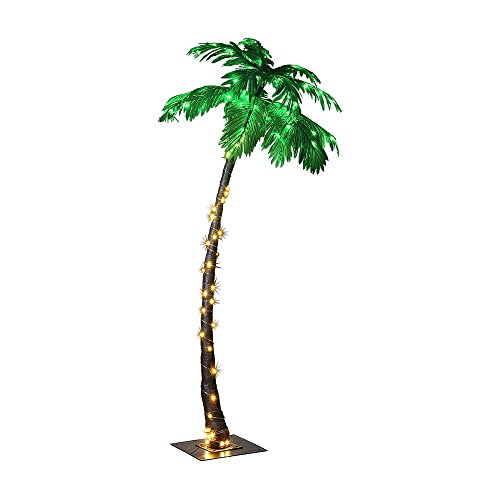 LIGHTSHARE JT-DC240V0250-C 7FEET Lighted Palm Tree, Large-ZLS7FT, 7-Feet, Multicolor