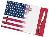 Leyhjai EE. UU. Bandera de Malta Manteles Individuales Juego de 6 para Mesa de Comedor, manteles Lavables Manteles Antideslizantes de Cocina Resistentes al Calor Fácil de Limpiar