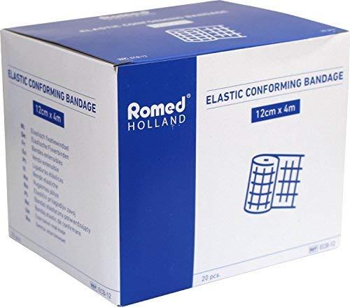 Romed Mullbinden Fixierbinden einzeln in Folie verpackt (12 cm x 4 m), 20 Stück