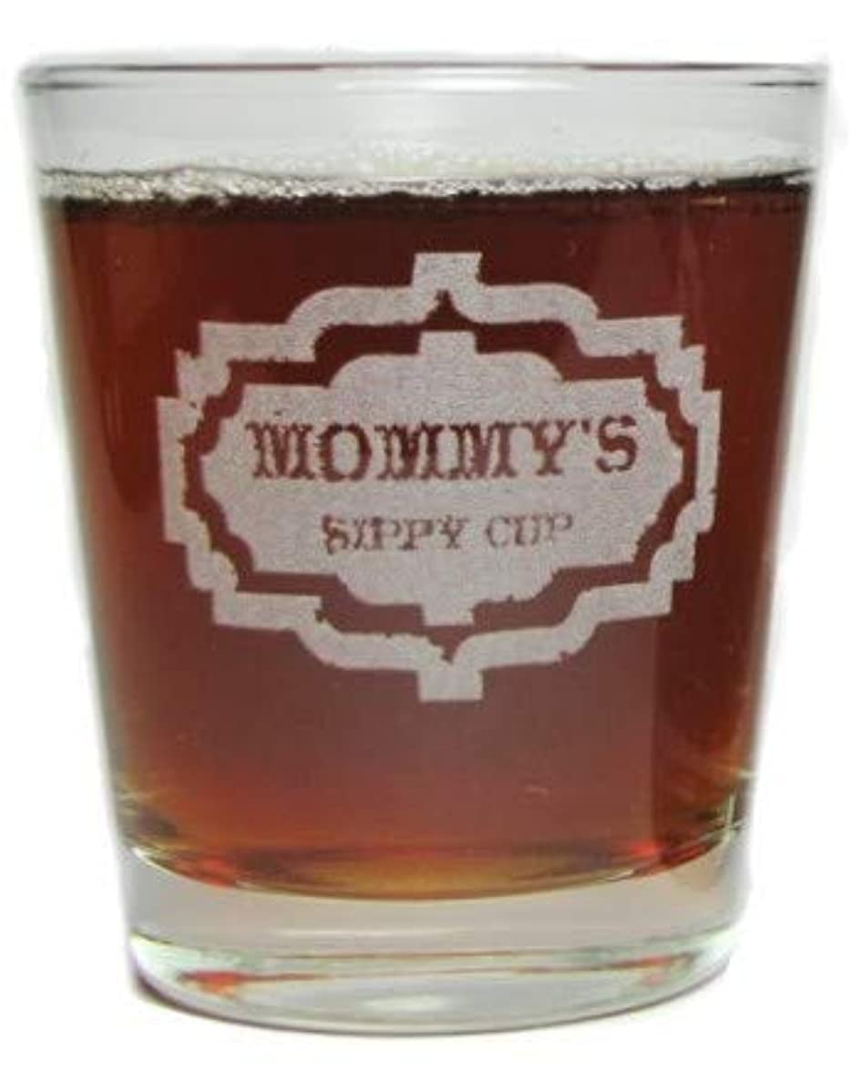 Mommy's Sippy Cup - Engraved Hi-Ball Rocks Glass - 13 Oz - Permanently Etched - Fun & Unique Gift!