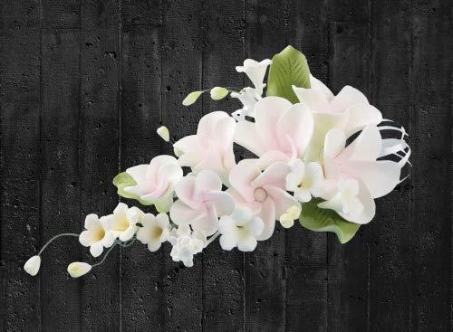 Tortendekoration Hochzeit Zucker Blumenbouquet Frangipani rosa
