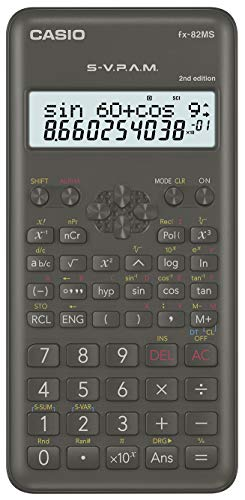 Casio FX-82MS-2- Calculadora científica, color gris oscuro