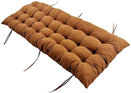 WUWEI Comfortable Long Sofa Seat Pad for 2 3 Seater,Garden Bench Outdoor Sun Lounger Pad Thick Padded Furniture Seat Pad Sofa Cushion,No-slip Patio Swing Replacement Mattress Tatami Mat
