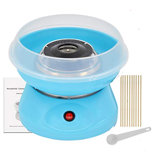 Mini Cotton Candy Machine for Kids, Electric Hard & Sugar Free Candy Floss Maker for Christmas Birthday Family Party Gift,Blue