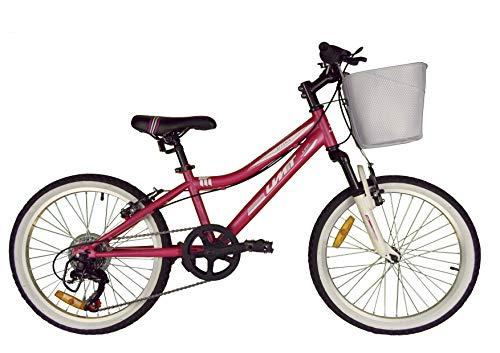 Umit 20' Diana Bicicleta Pulgadas con Cambio y Suspension, Unisex niños, Rosa