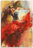 SXXRZA Wandbilder 60x80cm kein Rahmen Tanzen Mädchen Kunst