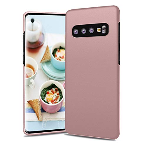Meidom Case for Samsung Galaxy S10 Plus Matte Surface Non Slip Shockproof Scratch-Resistant Slim Cover Case for Galaxy S10+ - Rose Gold