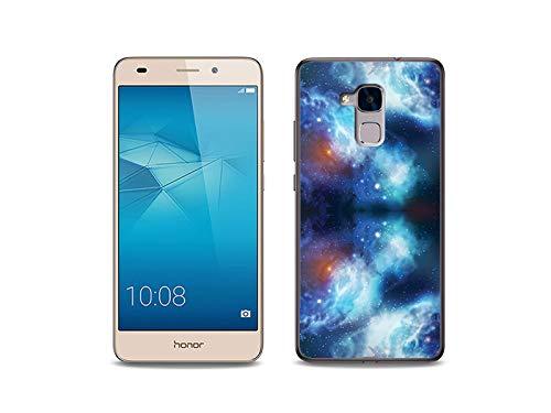 etuo Handyhülle für Huawei Honor 5C - Hülle, Silikon, Gummi Schutzhülle - Kosmos