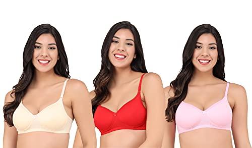 Women's Soft Padded t Shirt Bra Combo (Pack of 3) (28)