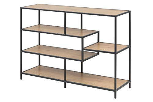 AC Design Furniture Regal Jörn, B: 114 x T:35 x H: 78 cm, MDF, Braun