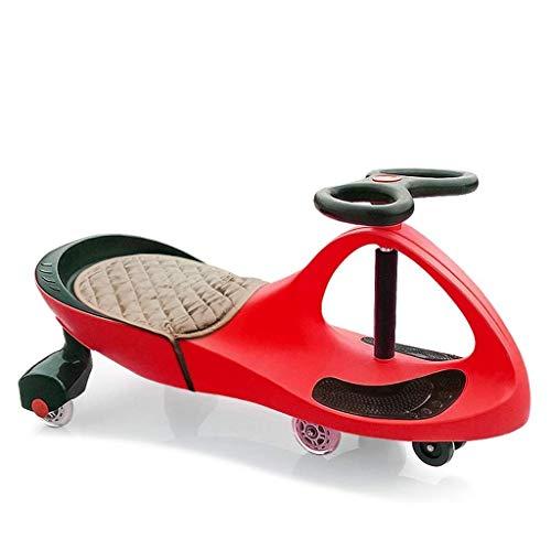 CAIMEI Coche giratorio para niños, rueda de silencio para niños, juguete deslizante, para coche y columpio de coche más cómodo cojín (color: azul), rojo