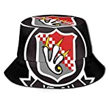 Lawenp Vf-211 Fighting Checkmates Parche Bucket Hat Unisex Plegable Summer Travel Bucket Boonie Sun Hat Gorra de Pescador al Aire Libre