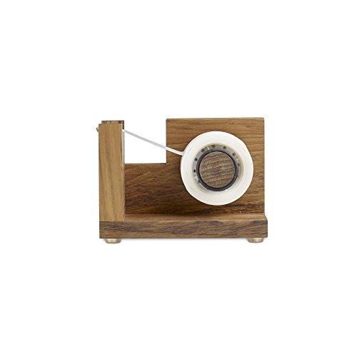 Design Ideas Takara Tape Dispenser, Teak Wood Tape Holder for Desk or Home, Brown
