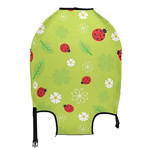 AJINGA Nature Red Ladybug - Funda protectora para equipaje de viaje, color verde