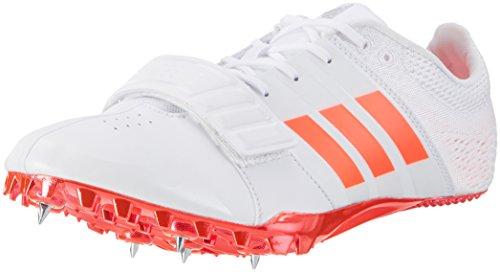 adidas adidas Unisex-Erwachsene Adizero Accelerator Leichtathletikschuhe, Weiß (FTW White/Solar Red/Silver Metallic), 46 2/3 EU