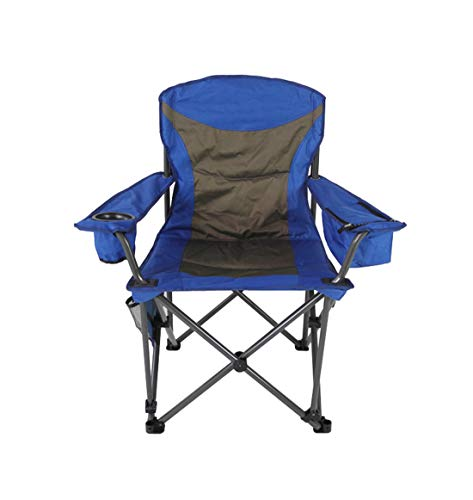 Folding Camping Chair Carry Bag Small Cooler Bag - Heavy Duty Support 400 lbs with Cup Holder Durable Outdoor Patio Seat Picnic Beach Fishing