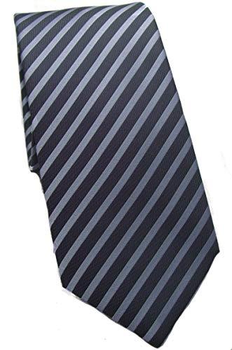 OLYMP Krawatte regular aus reiner Seide mit Nano Effekt Streifen blau