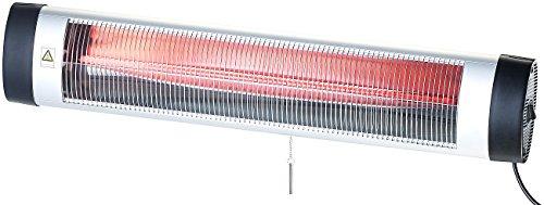 Semptec Urban Survival Technology Terrassenstrahler: IR-Heizstrahler mit Thermostat IRW-3000.RBL, rote Lampe, 3.000 W, IP24 (Infrarotstrahler mit Thermostat)