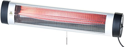 Semptec Terrassenstrahler: IR-Heizstrahler mit Thermostat IRW-3000.rbl, rote Lampe, 3.000 W, IP24 (Terassenheizer)
