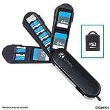 Aufbewahrungsgehäuse für Speicherkarten mit Micro SD Kartenleser (USB) - Im Schweizer Taschenmesser Design mit 3 Speicherplätzen - Kompatibel mit 3X SD & 8X Micro SD