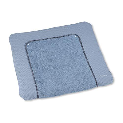 Sterntaler Wickelauflagenbezug Baylee Blue, Blau, 80 x 90 cm
