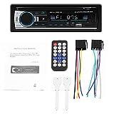 YOUNG4 Autoradio Doppel-USB Schnellladung Bluetooth Stereo MP3-Player Audioaufnahme SD Aux A2DP ISO Hochleistungs-Autoradio 530 mit Bluetooth