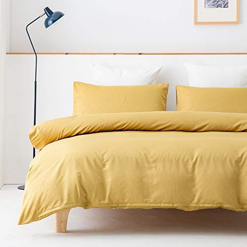 Ropa de cama 135 x 200 microfibra, 4 piezas, color verde, ropa de cama y ropa de cama con diseño de rayas, de satén, suave y mullida, con cremallera y 2 fundas de almohada de 80 x 80 cm (HUANG-135-4T)