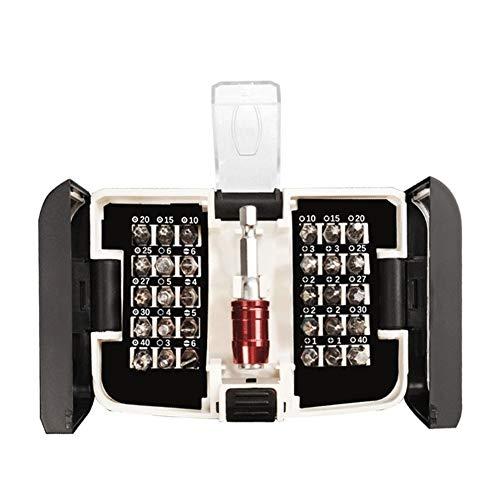 CPH20 Juego de destornilladores 19 en 1 destornillador de precisión herramienta de reparación extraíble para PC teléfonos móviles relojes