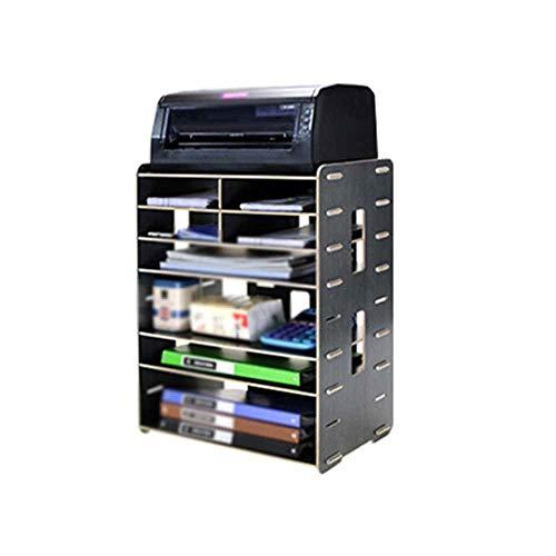 QLJJ Datei Organisator Kreative Multifunktionale Holz Desktop Storage A4A3 Datei Halter Druckerhalterung Schreibtisch File Organizer für Büro-Gebrauch (Color : B, Size : 56x26x42cm)