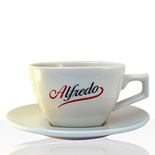 Alfredo Classic Milchkaffee-Tasse mit Untertasse 6 Stk, Aurora elfenbein