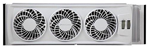 Bionaire BWF0502M-WM Thin Window Fan White Manual controls/White