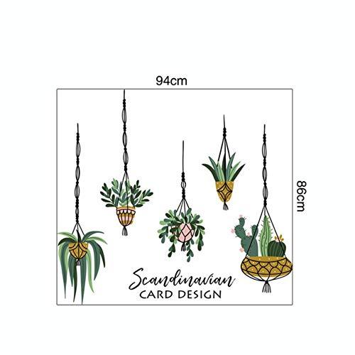 Coner Tropische Planten Bladeren Muurstickers Home Kinderkamer Groene Planten Stickers tegels glazen meubels, D